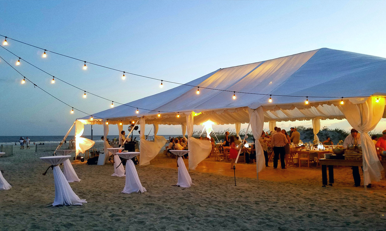 Beach Tent Wedding
