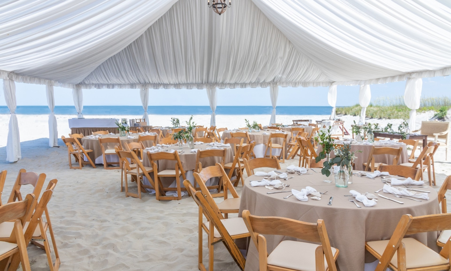 Tiki Beach Tent with Ocean View